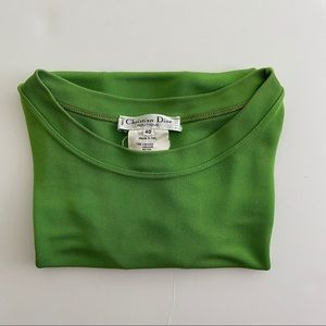 Christian Dior green T-shirt